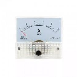 Amperimetro Panel Análogo DC, 10A, Múltiples Usos