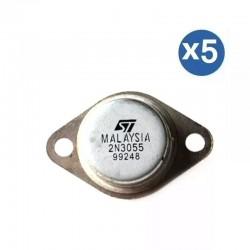 5 x Transistor 2N3055 15A 60 V NPN AF