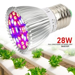 Ampolleta Grow Led 28W Full Spectrum Cultivo Indoor