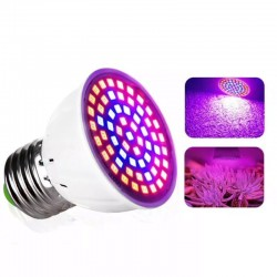 Ampolleta E27 Growing Led 20W Full Spectrum Cultivo Indoor