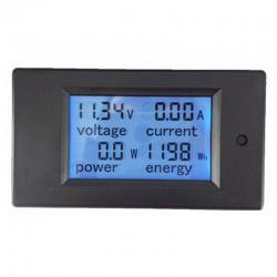 Watt Metro DC, Medidor de Energía, Voltaje y Corriente Instantánea