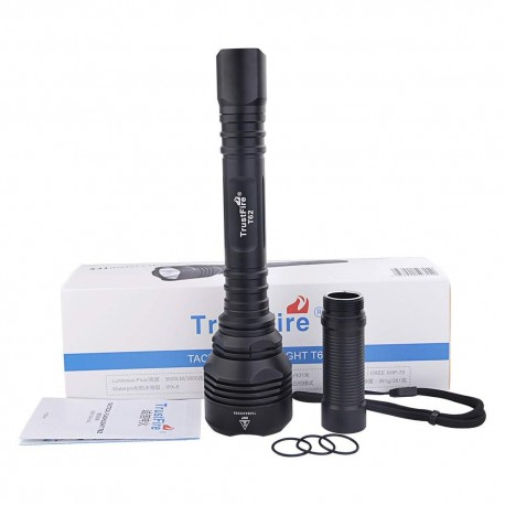 Linterna T62 Trustfire Extremadamente Potente Cree Xhp70, 3600 Lum