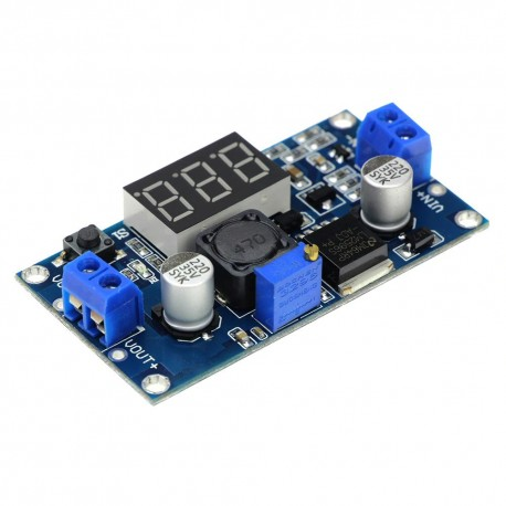 Regulador de Voltaje Step Down DC-DC LM2596 con Voltímetro