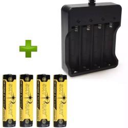 Pack 4 Baterías Sky Ray 18650 Con Cargador OEM 4 Baterías