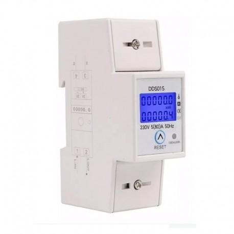 Medidor Energía Eléctrica DDS015 KWh 5(80)A AC 230V