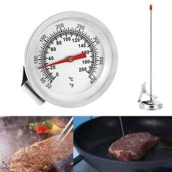 Termómetro Analógo 200 °C, Ideal Cocina, Barbacoa, Etc