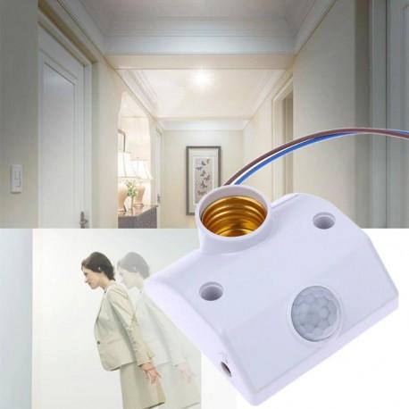 Soquete E27 Con Sensor de Movimiento PIR, 220V, 5A