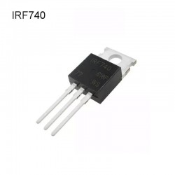 Transistor Mosfet IRF740, Canal N, 10A, 400V, TO-220