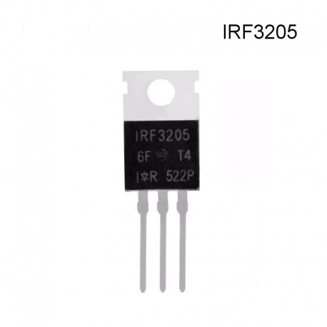 Transistor Mosfet IRF3205, 98A, 55V, 150W, Canal N
