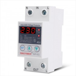 Relé Protección Sobre y Bajo Voltaje SVP912, 230V, 40A