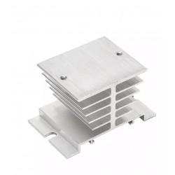 Disipador Aluminio, Múltiples Usos, SSR(hasta 40A), Cob Led Max 20W,