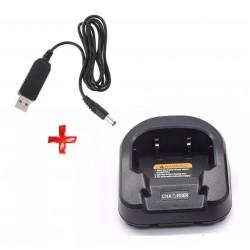 Cargador USB 5V, Para Radios Baofeng UV-82, UV-8, etc