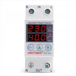 Relé Protección Sobre-Bajo Voltaje y Sobre Corriente 40A, 220VAc, SVP-916