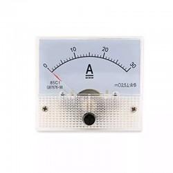 Amperimetro Panel Análogo DC, 30A, Múltiples Usos! Embutir