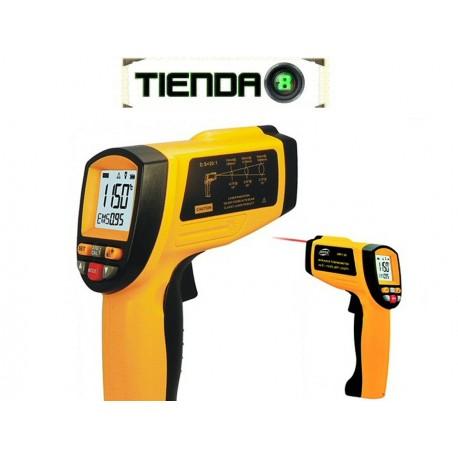 Termómetro Pistola Láser - Mide A Distancia Hasta 1150 °C
