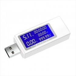 Monitor 7 en 1 USB Amperímetro y Voltímetro KWS-1705A