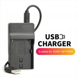 Cargador USB Alpha Sony BC-VM10 Para Batería NP-FM500H