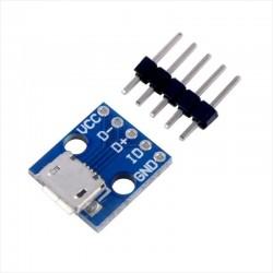 Modulo Placa Breakout Micro Usb A Dip 2.54 Mm, Diy, Arduino