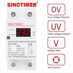 Relé Protección Sobre y Bajo Voltaje SVP-60L, 230V, 40A