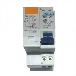 Interruptor Diferencial 1 P + N 25A, 230V, 2 X 25a, 30mA