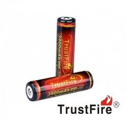 "Batería Recargable 18650, 3.7 V, 3400mAH, Trustfire ""Infierno 2"""
