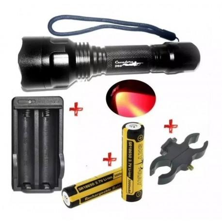 Pack Premium Cazadora B88 Xp-e Rojo, Baterías 18650 x 2, Cargador, Etc
