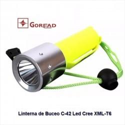 Linterna de Buceo Goread C42, Led XM-L T6, 700 Lúmenes