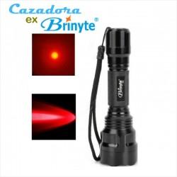 Linterna de Caza Lanzadora B88X Brinyte Roja, Led XP-E N4