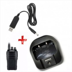 Cargador USB 5V, Para Radios Baofeng UV-6, UV-6D