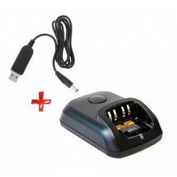 Cargador Usb 5V, Para Radios Motorola DGP6150, DGP8550, DEP550