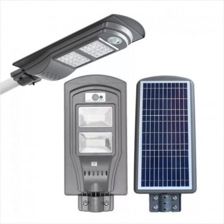 Foco Led Solar 60W Panel Integrado 80 Led, Sensor Movimiento