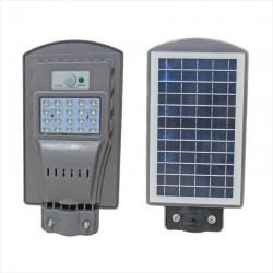 Foco Led Solar 20W Panel Integrado 20 Led, Sensor PIR Movimiento