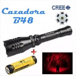 Pack Linterna Súper Lanzadora B48 Cazadora + Batería 18650