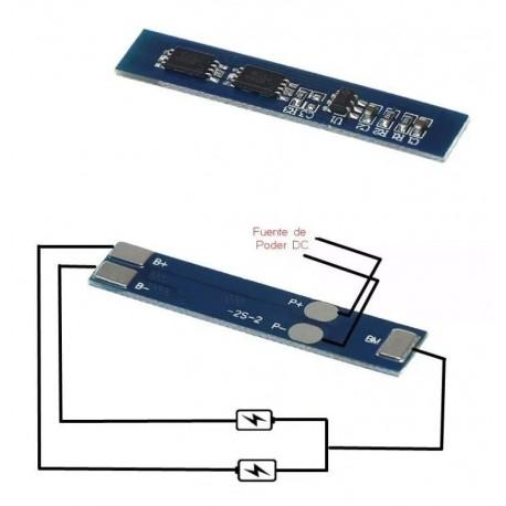 Tarjeta Cargador Balanceador Li-ion Lipo 2S, 4A, 8.4V