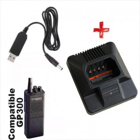 Cargador Usb 5V, Para Radios Motorola GP300, P110, Etc