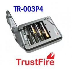 Cargador TrustFire Para 4 Baterías Cilíndricas, 18650 o Más Pequeñas