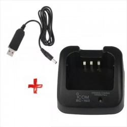 Cargador USB ICOM BC-160, Para Baterías BP-231 y BP-232