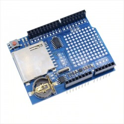 Shield Datalogger Arduino, Para Tarjeta de Memoria SD