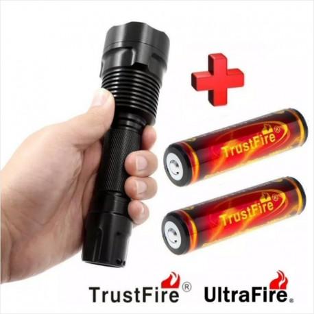 C12 UltraFire CREE XM-L2 + 2 x Baterías TrustFire 18650 3000mAh