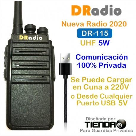 Radio UHF DRadio Profesional, 16 Canales, Comunicación Privada