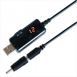 Cable Adaptador 9 Y 12v Desde Usb, Voltimetro Integrado