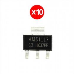 10 x Regulador De Voltaje 3.3V AMS1117, LM1117, SOT-223