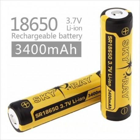 Baterias Sky Ray 18650 - 3400 Mah Reales - 2 Unidades