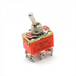 E-TEN1322 Interruptor Bipolar ON-OFF-ON Palanca 250V 15A AC