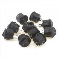 Mini Switch Interruptor Rocker ON/OFF 15mm, 250V, 3A