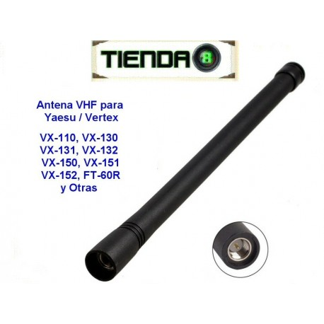 Antena VHF Para Radios Portatiles Yaesu/Vertex VX-110, VX-150, VX-231, etc