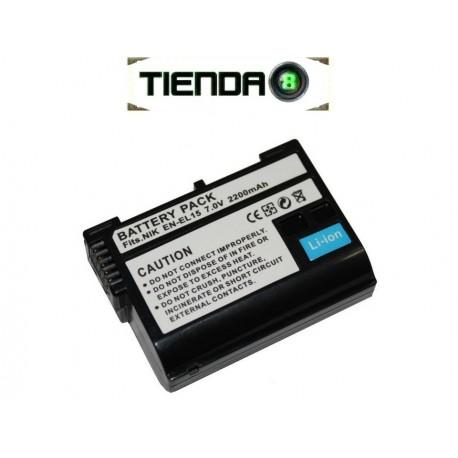 EN-EL15 Batería Alternativa Nikon para D7000, D600, D800 y otros