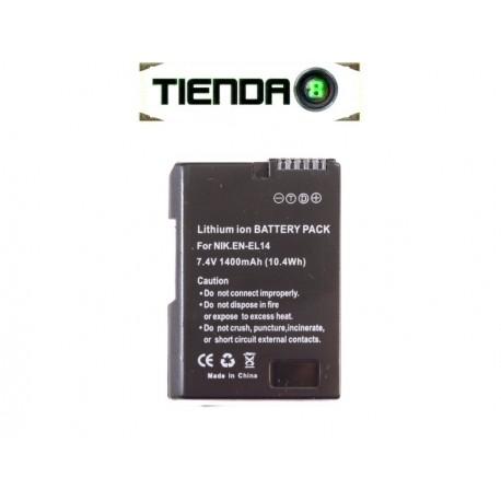 EN-EL14 Batería Alternativa Nikon para D3100, D3200, D5100 y otras