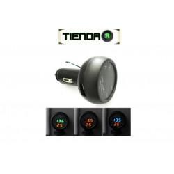 Medidor de Voltaje, Temperatura y Puerto USB (3 en 1)