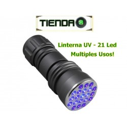 Linterna Ultravioleta De 21 Led UV - ¡Múltiples Usos!